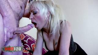 A cock in the ass for this 40 slut !
