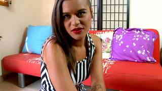 Horny young Alice Axx doing a strip alone on her webcam photo 1