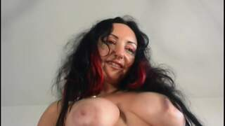 Ana Martin Vinyl Pornstar brunette with big tits Ana Martin doing a strip