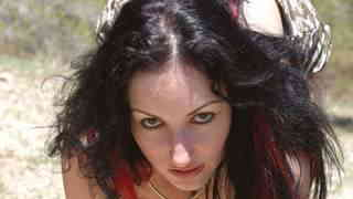 Ana Martin Wood Pornstar brunette with big boobs Ana Martin getting naked in the woods