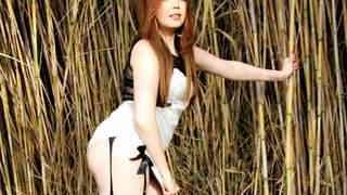 Nice young brunette Angela Kiss dancin...photo 2