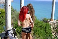 Angie Kiss Mix La pornstar rousse Angie Kiss pose