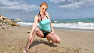 Nice blonde Angie Scorp doing a strip ...photo 1