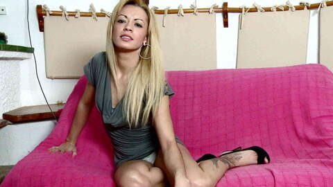 Lovely blonde Anita doing a strip live...photo 1