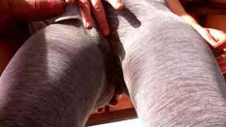 Spandex Camel toe Masturbation  photo 06