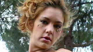 Pornstar blonde Axelle Mugler dancing ...
