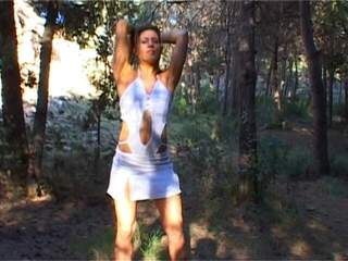 Axelle Mugler Wood Young french porntar nude in the forest