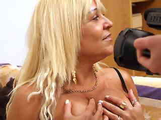 Hot Blonde Mature With Big Tits Plays With Xxx Dessert Picture 5