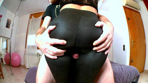Fetish masturbation in a spandex cam...photo 1
