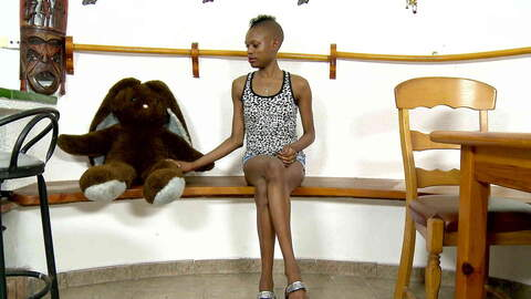 Nice black Bianka Blacka stripping a...photo 1