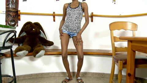 Nice black Bianka Blacka stripping alo...photo 3