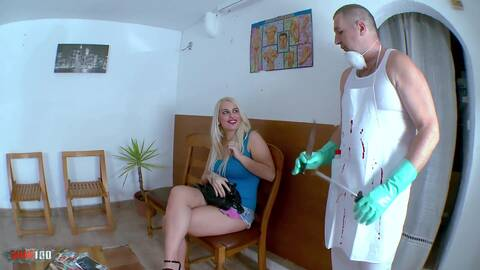 Horny big tited blonde gets a milk ene...photo 1