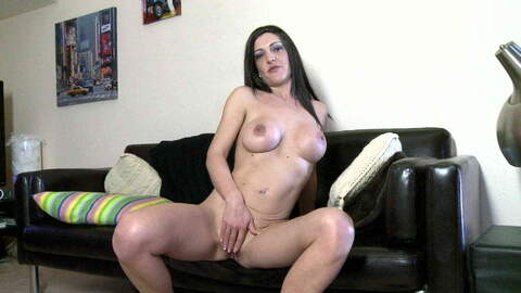 Nice brunette with big tits Carla Pons doing ...