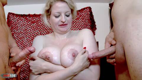 Leather lady for two horny guys in the...photo 4