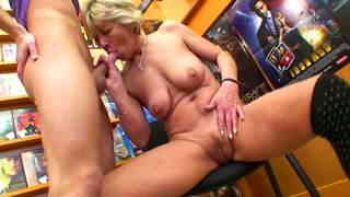Nanny likes to have sex with boys !  photo 11