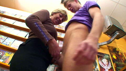 Nanny likes to have sex with boys ! photo 3