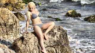 Horny milf blonde with big boobs Debor...
