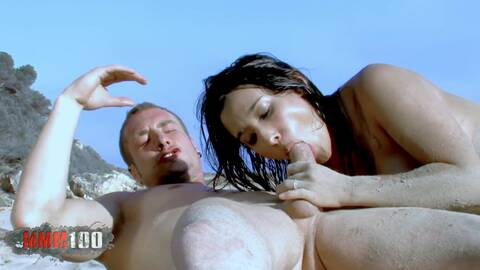 Dolce and Leo fucking on the beach photo 4