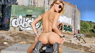 Pornstar teen blonde with big boobs Erica Fontes doing a hot striptease wearing a sexy short   photo 08