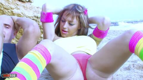 Some workout at the beach!  photo 1