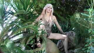 Eva Lange Jungle Pornstar blonde with big boobs Eva Lange removing clothes