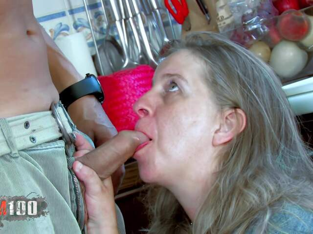 Fucking a nasty fat MILF in the ass,  in the kitchen   photo 02