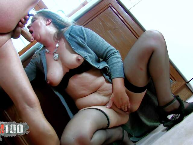 Fucking a nasty fat MILF in the ass,  in the kitchen   photo 07