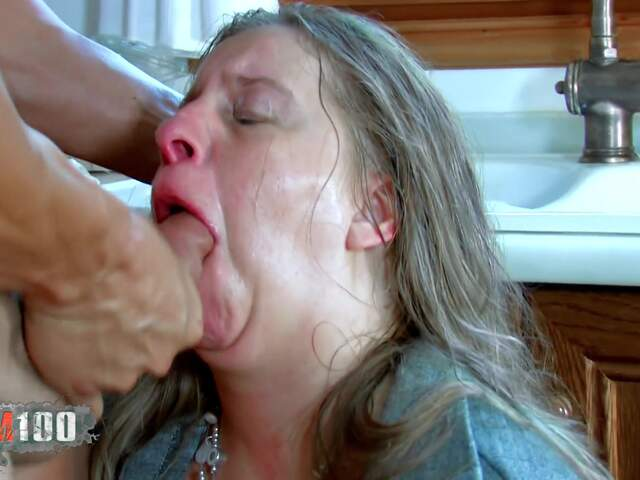 Fucking a nasty fat MILF in the ass,  in the kitchen   photo 08