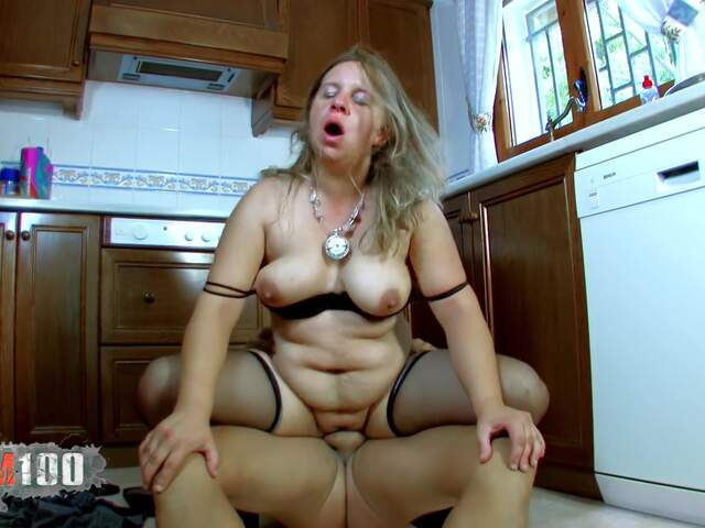 Fucking a nasty fat MILF in the ass,  in the kitchen   photo 10