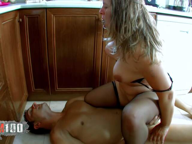 Fucking a nasty fat MILF in the ass,  in the kitchen   photo 11
