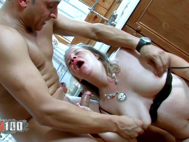 Fucking a nasty fat MILF in the ass,  in the kitchen   photo 12
