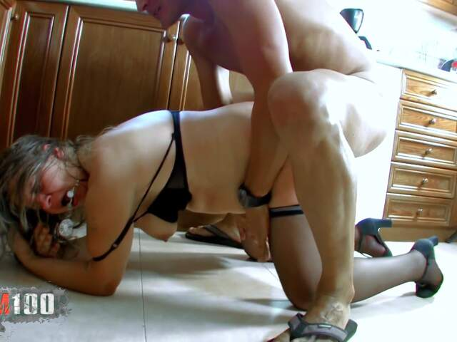 Fucking a nasty fat MILF in the ass,  in the kitchen   photo 13