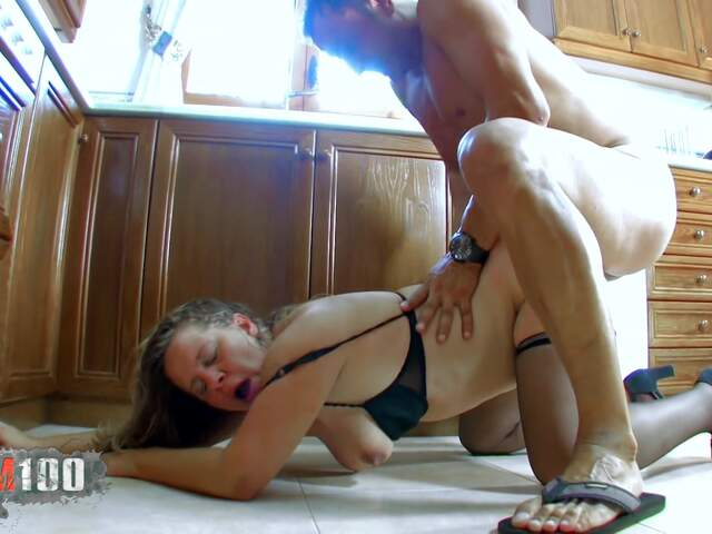 Fucking a nasty fat MILF in the ass,  in the kitchen   photo 14
