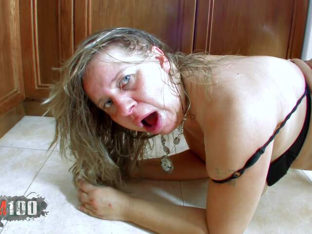 Fucking a nasty fat MILF in the ass,  in the kitchen   photo 15