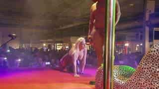 Daniela Evans public show in salon erotico de Alicante 2016  photo 07