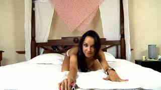 Pretty brunette Francys Belle getting naked live on the webcam   photo 09