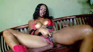 Horny ebony with big boobs Hypnotiq removing clothes   photo 03
