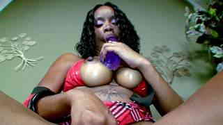 Horny ebony with big boobs Hypnotiq removing clothes   photo 08