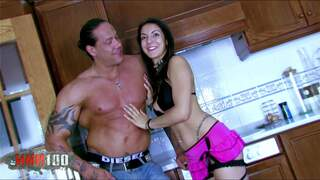 Isabelle Solis Rob Diesel Isabelle getting nailed in the kitchen