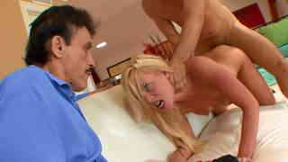 Young wife fucked while her old husband is watching  photo 10