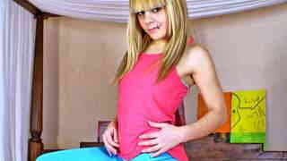 Hot young blonde Jakeline Teen removin...photo 1
