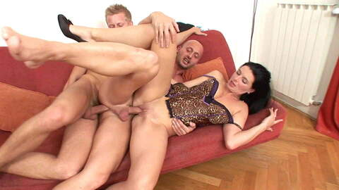 Delicious Bisexual threesome photo 1