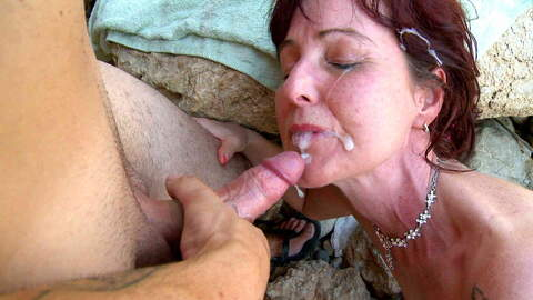 Hot French MILF on a sunny beach photo 4