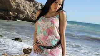 Pretty arab brunette with big boobs Ka...photo 1