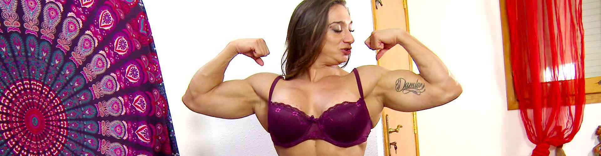 Image Hot muscle Woman fucking like a crazy horse
