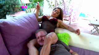 Very strong woman scissoring a dude with her muscled thighs  photo 04
