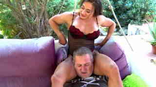Very strong woman scissoring a dude with her muscled thighs  photo 13