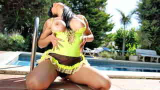 Great Kasandra Kitd doing a hot striptease by the pool   photo 10
