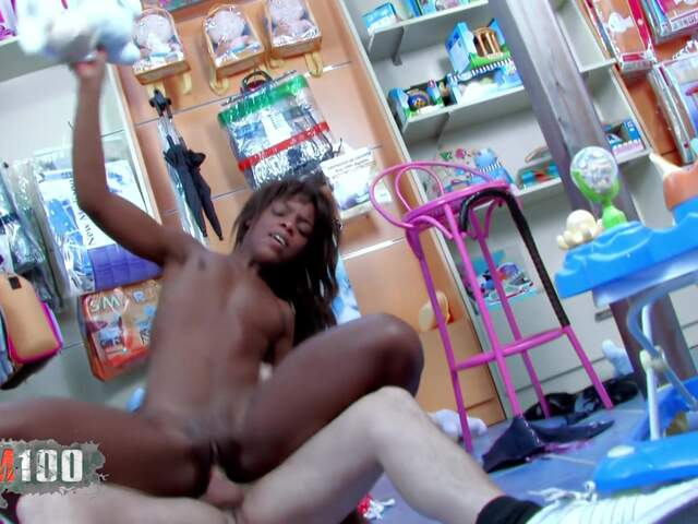 Black babe brutal fucked in DP by 2 bruts  photo 07