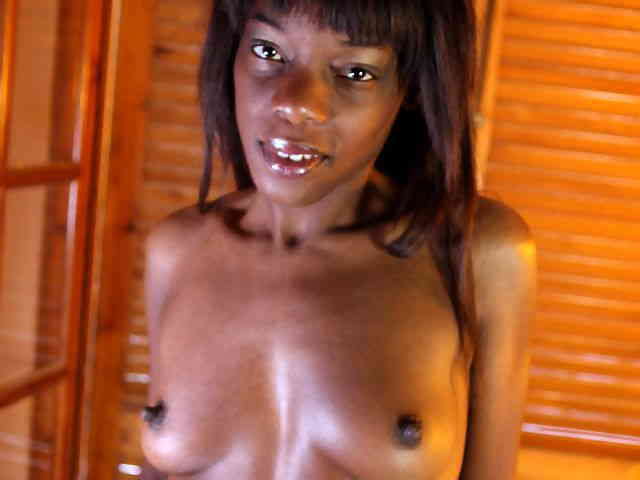 Lovely black Kenya Diaw doing a hot striptease   photo 03